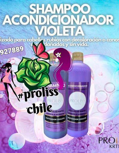 Shampoo acondicionador violeta